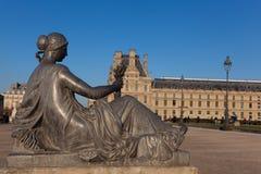 Rzeźba w louvre muzeum, Paryż Obraz Royalty Free