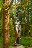 Rzeźba Wenus Kallipiga - bogini miłość i piękno Stary Silvia park w Pavlovsk, St Petersburg, Rosja Zdjęcie Royalty Free