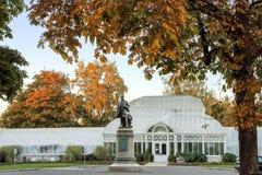 Rzeźba William Henry Seward przy Ochotniczym Parkowym konserwatorium obraz royalty free