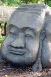 Rzeźbiąca kamień głowa Zdjęcia Royalty Free