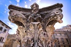 Rzeźbiąca kolumna, Florencja, Włochy obraz royalty free