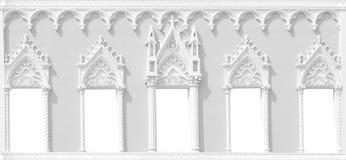 Rzeźbiąca kolumnada z łukami Fotografia Stock