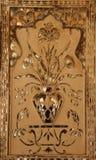 Rzeźbiąca marmuru i lustra intarsja zdjęcia stock