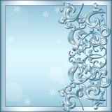 Rzeźbiąca rama lód dla obrazka lub fotografia z cieniem ilustracji