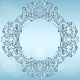 Rzeźbiąca rama lód dla obrazka lub fotografii royalty ilustracja