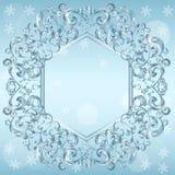 Rzeźbiąca rama lód dla obrazka lub fotografii ilustracja wektor