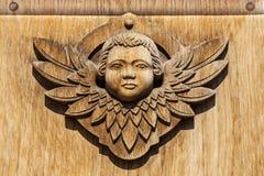 Rzeźbiąca twarz anioł. obrazy royalty free