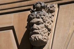 Rzeźbiąca twarz na fasadzie GPO budynek w Martin miejscu obrazy royalty free