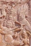 rzeźbiący deseniowy drewno Zdjęcia Stock
