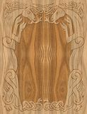 Rzeźbiący drewnianej ramy celta styl Fotografia Stock