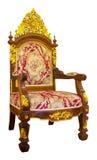 Rzeźbiący drewniany krzesło Zdjęcia Royalty Free