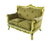 Rzeźbiący drewniany krzesło Obrazy Stock
