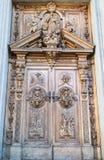 Rzeźbiący drewniany portal Obraz Stock