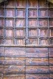 Rzeźbiący drewniany portal Fotografia Royalty Free