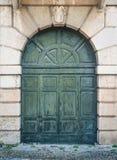 Rzeźbiący drewniany portal Fotografia Stock