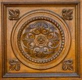 Rzeźbiący drewniany wzór Obrazy Stock