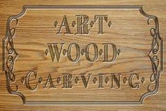 Rzeźbiący drewno talerz sztuki cyzelowanie Obrazy Royalty Free