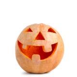 Rzeźbiący Halloween bani uśmiechy Fotografia Royalty Free