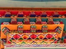 Rzeźbiący i Malujący Świątynny szczegół w Nepal Obraz Royalty Free