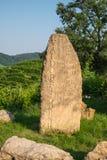 Rzeźbiący kamienny zaznacza Valdobbiadene prosecco region Fotografia Royalty Free