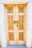 rzeźbiący kościelny drzwiowy drewniany Obraz Stock
