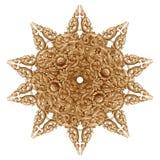 rzeźbiący kwiatu wzoru drewno Zdjęcie Royalty Free