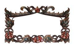 rzeźbiący kwiatu wzoru drewno Obrazy Stock