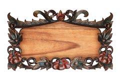 rzeźbiący kwiatu wzoru drewno Zdjęcia Royalty Free