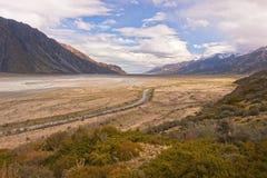 rzeźbiący lodowiec nowy dolinny Zealand zdjęcia stock
