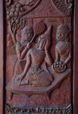 Rzeźbiący okno w nongwaeng świątyni fotografia royalty free