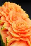 rzeźbiący owocowy melonowiec Fotografia Royalty Free