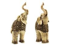 Rzeźbiący posążki indyjscy słonie Obraz Royalty Free