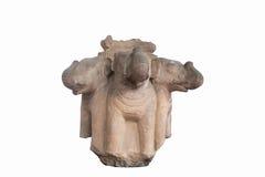 Rzeźbiący w kamiennym słoniu przewodzi antyka (Thailand) Fotografia Stock