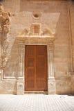 rzeźbiący zamknięty drzwi Fotografia Stock