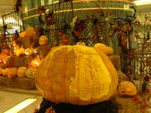 Rzeźbić Halloweenowe Banie Obraz Stock