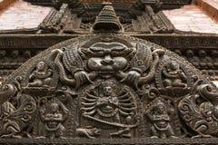Rzeźbić statuy na Durbar Obciosują w Kathmandu Nepal Fotografia Royalty Free