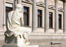 Rzeźbi blisko historii naturalnej muzeum w Wiedeń Wien, Austria Obraz Royalty Free