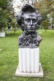 Rzeźbi Chopinowskiego w parku Muzeon, brąz Rzeźbiarz Ja doktryna zdjęcia stock