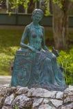 Rzeźbi fontannę w termicznym zdroju Heviz miasteczku, Węgry, (0) Zdjęcie Stock