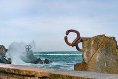 Rzeźbi ` grępla Wiatrowy ` w Baskijskim kraju Hiszpania Fotografia Stock
