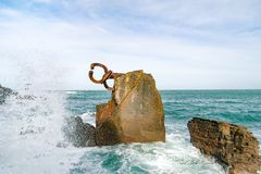 Rzeźbi ` grępla Wiatrowy ` w Donostia Baskijski kraj Hiszpania Zdjęcie Royalty Free