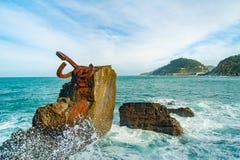 Rzeźbi ` grępla Wiatrowy ` w Donostia Baskijski kraj Hiszpania Zdjęcia Royalty Free