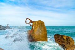 Rzeźbi ` grępla Wiatrowy ` w Donostia Baskijski kraj Hiszpania Fotografia Royalty Free