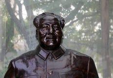 Rzeźbi Mao Zedong, także transliterujący jako Mao Dzwonił Zdjęcia Royalty Free