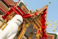 Rzeźbi mierzyć i niebiańskiego - WatbuakhwanTemple, Nontha Obrazy Royalty Free