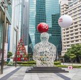 Rzeźbi Singapur duszę od Jaume Plensa w pieniężnym cencie fotografia stock