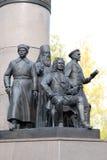 Rzeźbiony grupowy Yugra wiele twarze obrazy stock