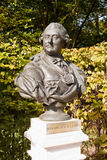 Rzeźbiony portret połysku królewiątko Stanislaw Sierpień Poniatowski Zdjęcie Royalty Free