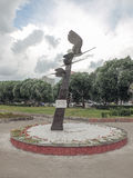Rzeźbiony skład - żurawie obraz royalty free