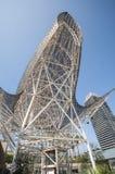 Rzeźby Barcelona Peix architektem Frank Gehry lub ryba, Portowy Olimpic, Barcelona, Catalonia, Hiszpania, Europa, Wrzesień 2016 Obraz Stock